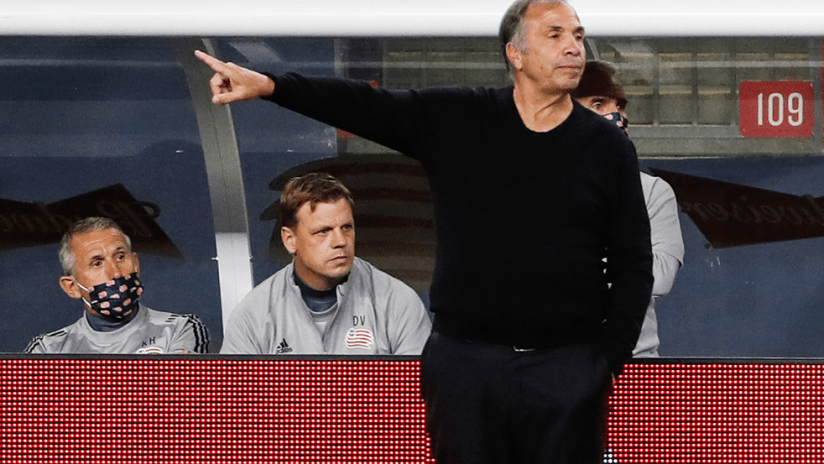 Bruce Arena and staff - playoffs - 2020