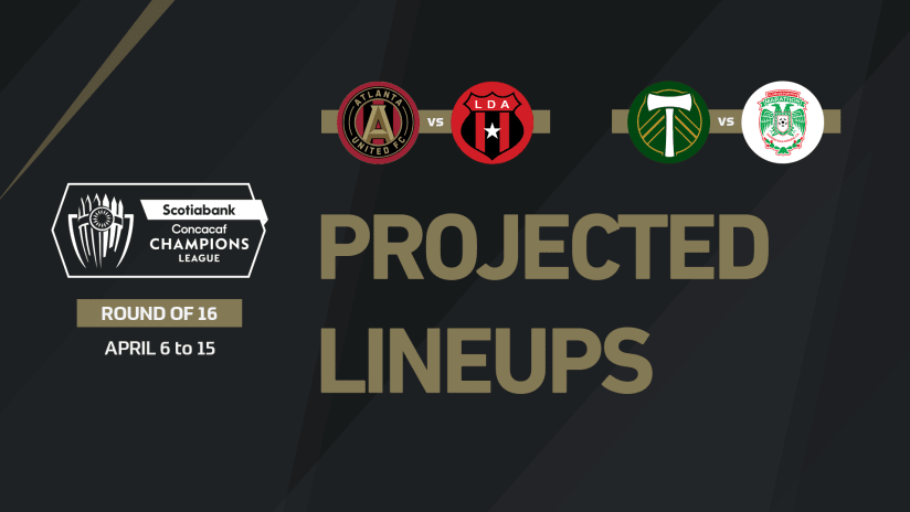 Projected lineups for Concacaf Champions League Round of 16 - April 13