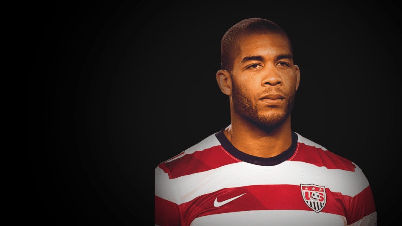 Oguchi Onyewu - portrait against black background - use only for special posts