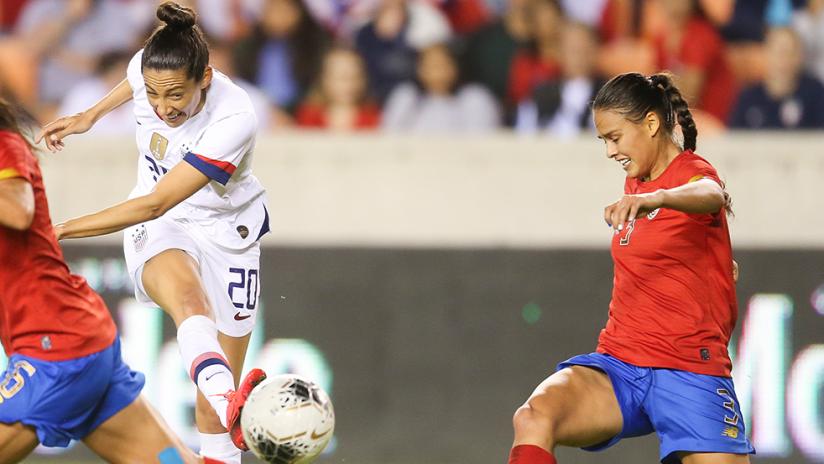 Christen Press - US women's national team (USWNT) - shooting vs. Costa Rica