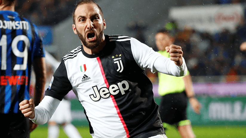 Gonzalo Higuain - Juventus - screaming celebration