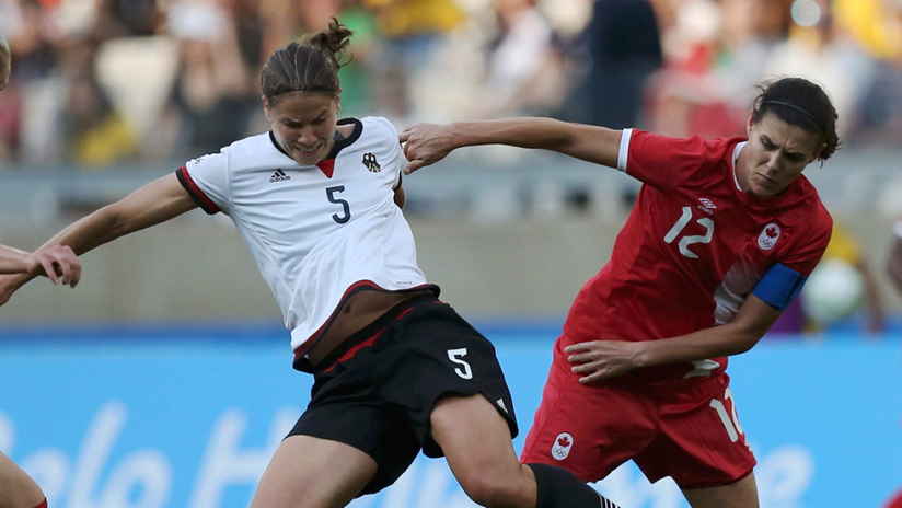 Sophie Schmidt, Christine Sinclair - Canada womens national team - CanWNT