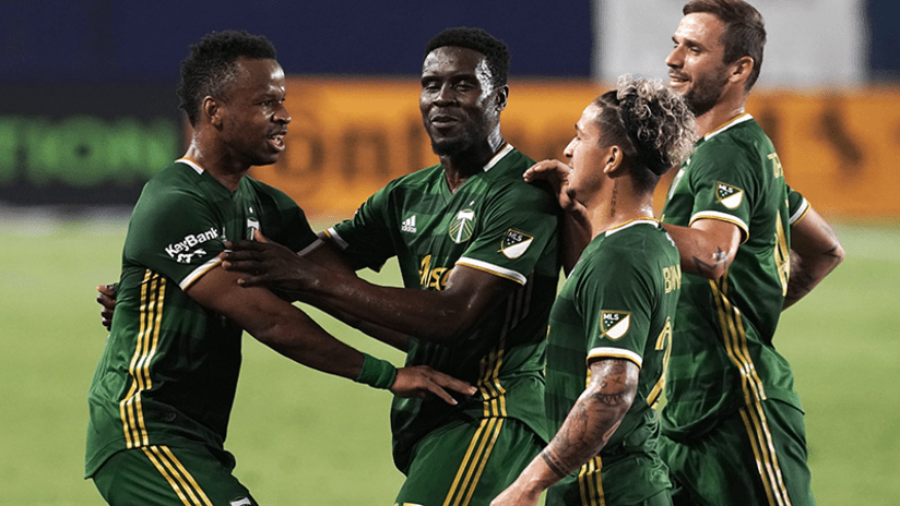Portland Timbers celebration - October 7, 2020