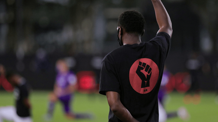 Black Players for Change - single player fist up