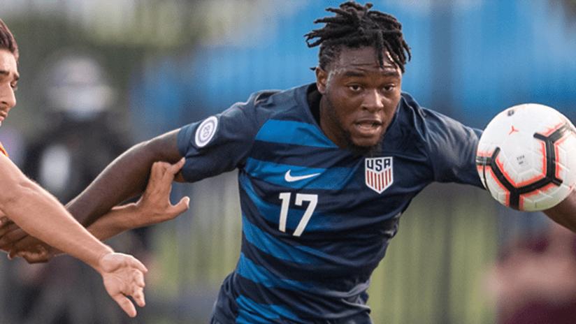 Ayo Akinola - US Under-20 national team - November 3, 2018 vs. US Virgin Islands