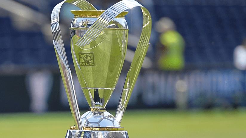 MLS Cup Trophy - 2014 - old logo