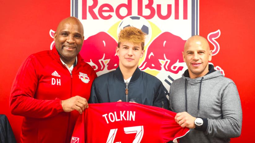 Josh Tolkin signs - New York Red Bulls