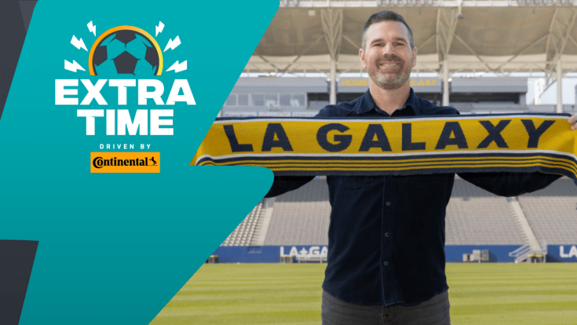 Extratime: Greg Vanney with Galaxy scarf