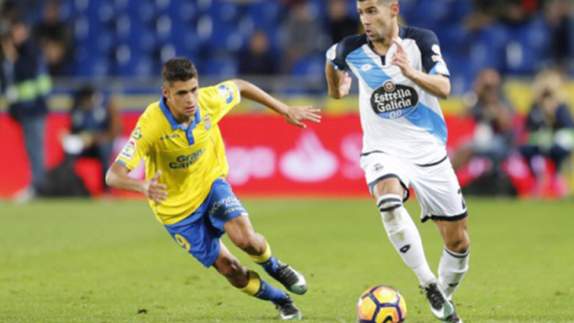 Mateo Garcia - UD Las Palmas - in yellow - THUMB ONLY