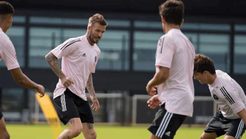 David Beckham - Training - Inter Miami academy
