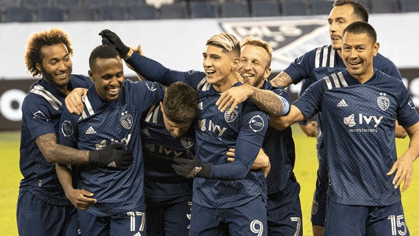 Sporting Kansas City celebrate - October 24, 2020
