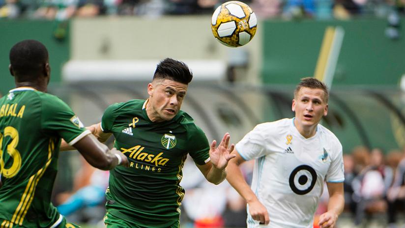 Jorge Moreira - Portland Timbers - header vs. Minnesota United