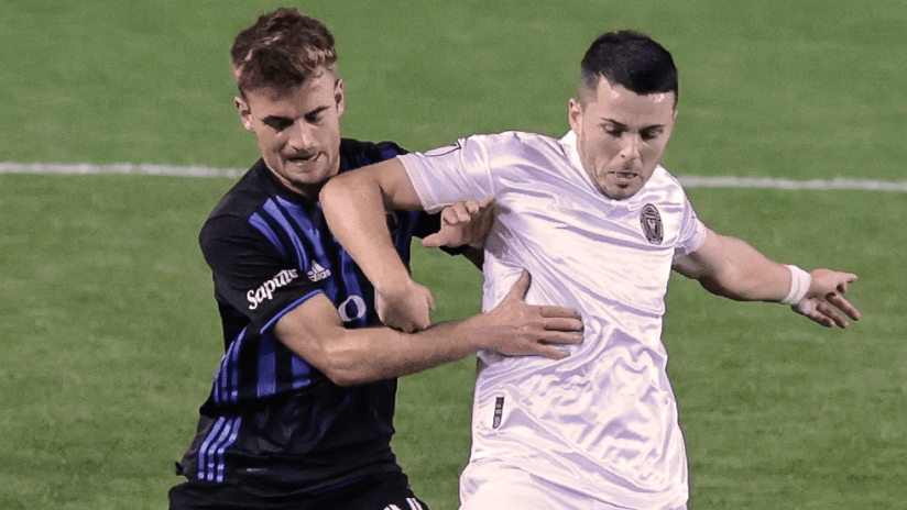 Lewis Morgan, Amar Sejdic - Inter Miami, Montreal Impact - Close up