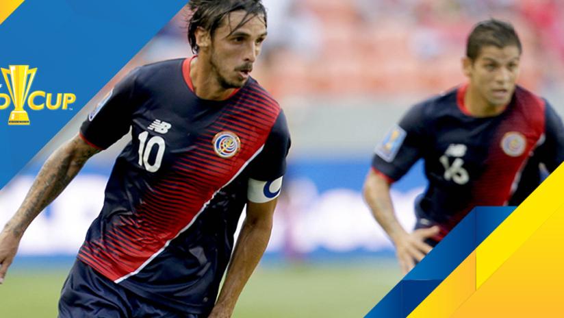 2017 Gold Cup - Bryan Ruiz - Costa Rica - Dribbles right