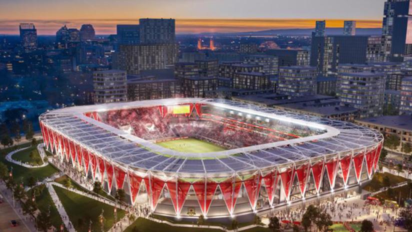 New Sacramento MLS stadium rendering - Sacramento Republic - expansion candidates