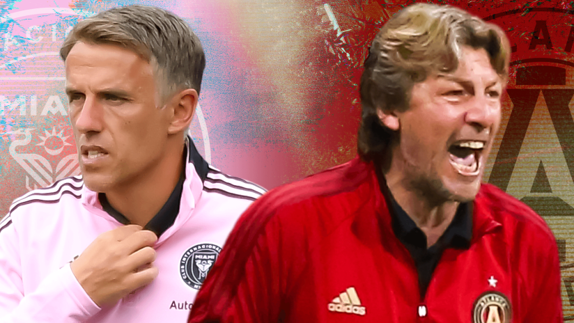 Former Manchester United teammates Phil Neville and Gabriel Heinze ready for first MLS meeting