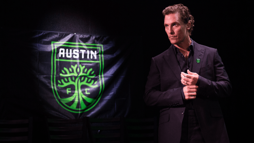 "Matthew McConaughey's ""hundred-year war"" for Austin FC is well underway"