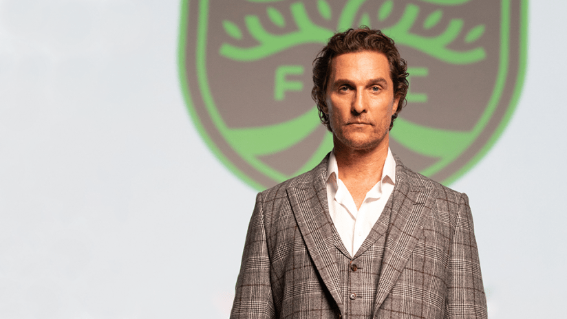 Matthew McConaughey - Austin FC - close up