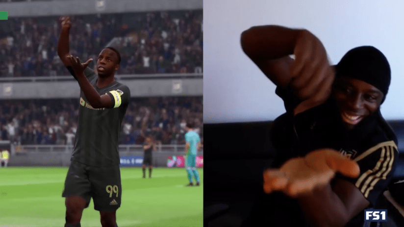 Adama Diomande - LAFC - stirring celebration - FIFA 20 side-by-side