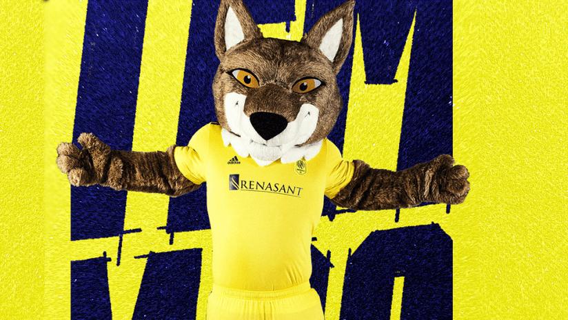Nashville SC - 2021 - mascot - Tempo the Coyote