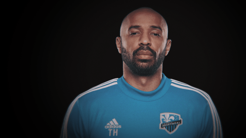Thierry Henry - portrait against black background - use only for special posts