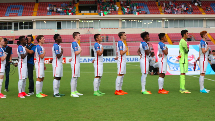 US U-17 - during anthem - thumb only
