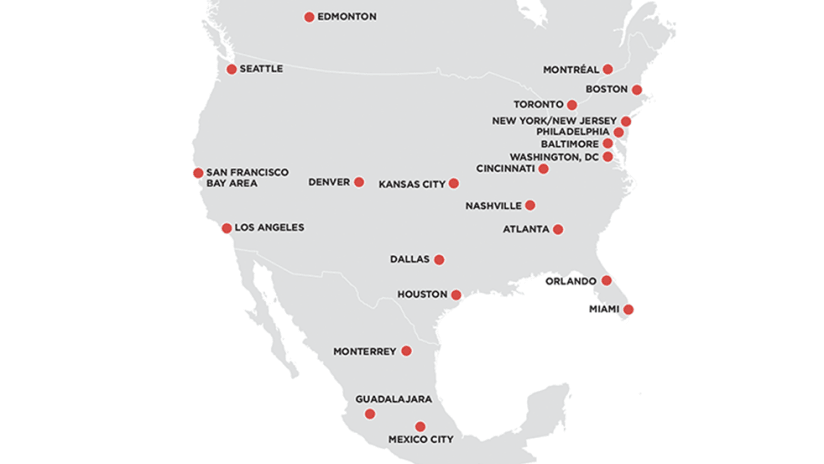 World Cup bid - possible host cities