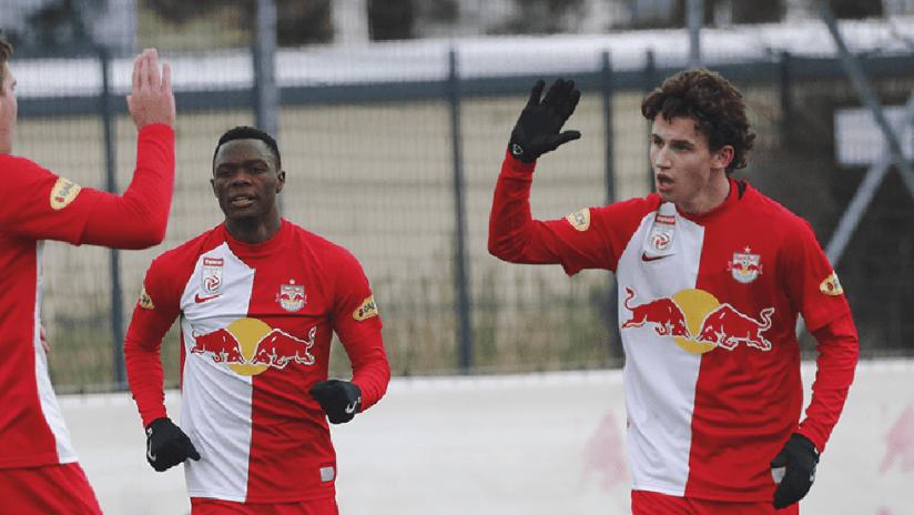 Brenden Aaronson - Red Bull Salzburg - friendly game