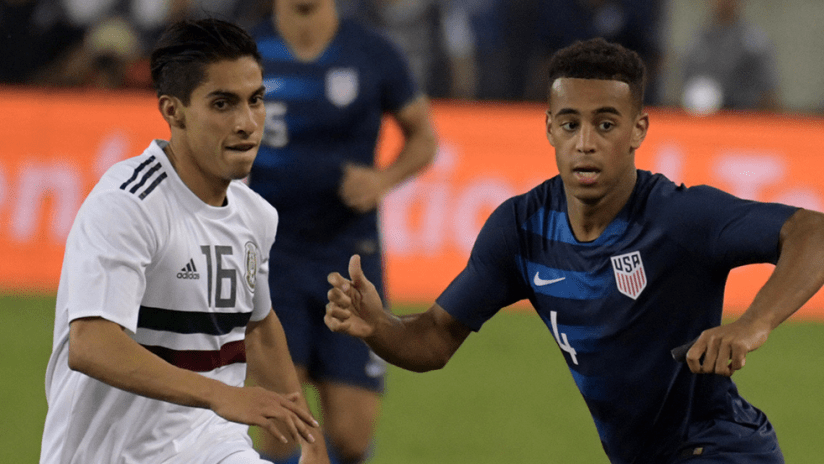 Erick Aguirre, Tyler Adams - Mexico vs. US national team