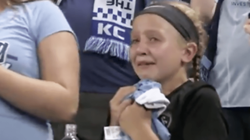 Girl crying for Johnny Russell - August 18, 2018