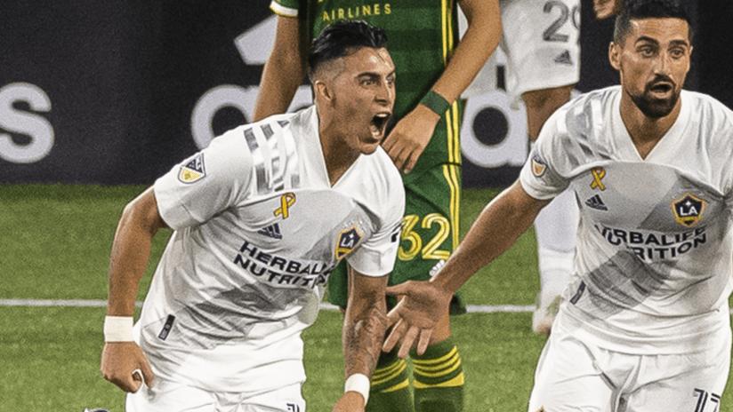 Cristian Pavon celebrates - LA Galaxy - September 2, 2020