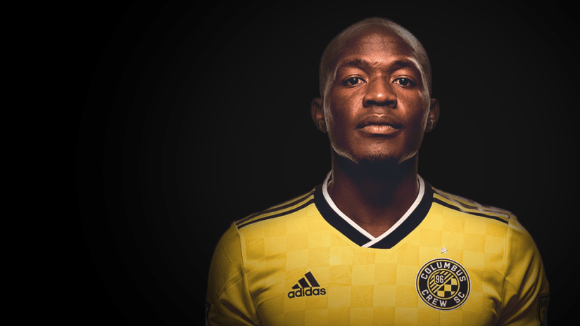 Darlington Nagbe - portrait against black background - use only for special posts