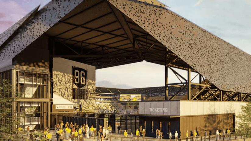 Columbus Crew - 2020 - new stadium - looking southwest