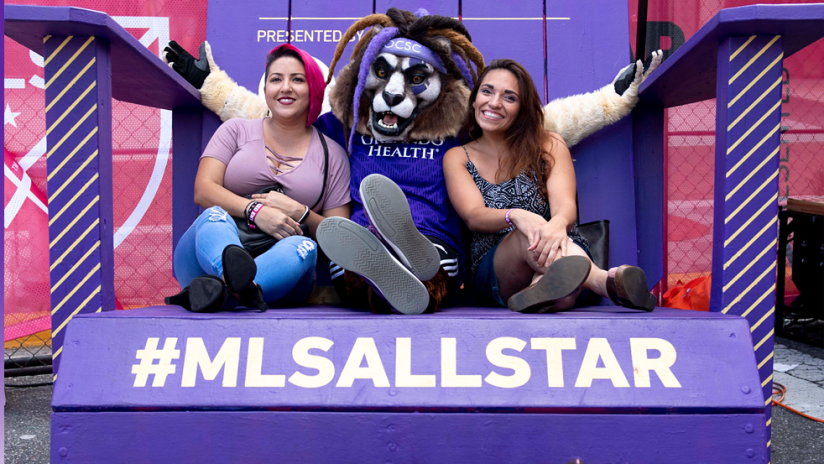All-Star - 2019 - Orlando City SC mascot with fans