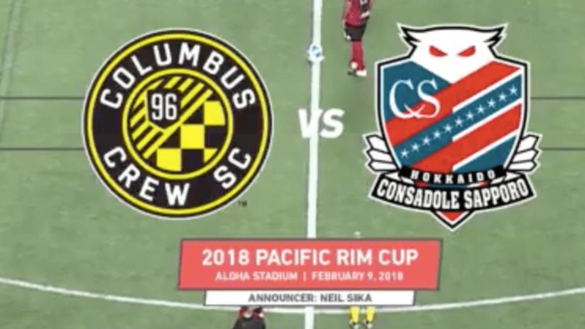 Crew SC vs. Sapporo - 2018 Pacific Rim Cup - February 9, 2018