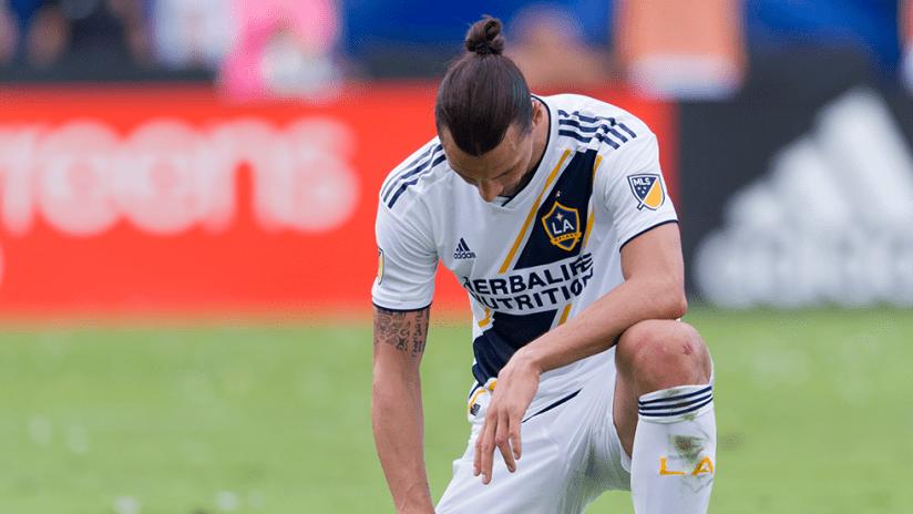 Zlatan Ibrahimovic - LA Galaxy - Kneels after Decision Day loss