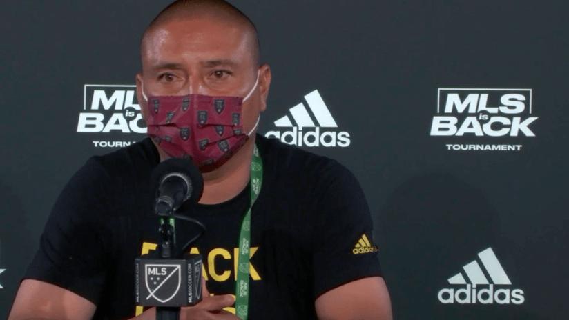 Freddy Juarez - Real Salt Lake - press conference July 12