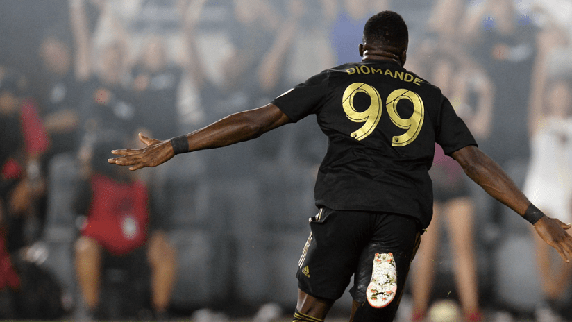 Adama Diomande - LAFC - celebrating