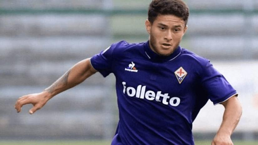 Joshua Perez - playing for Fiorentina - close up