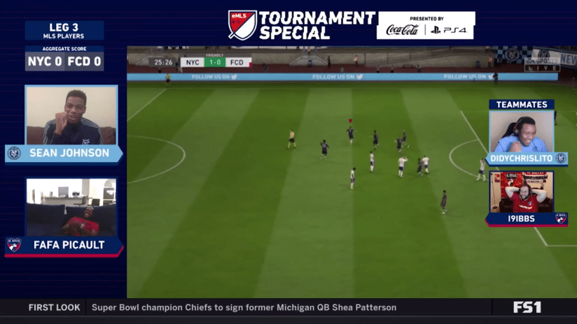 Screengrab: Sean Johnson - NYCFC - celebrate eMLS Tournament Special win - Didychrislito