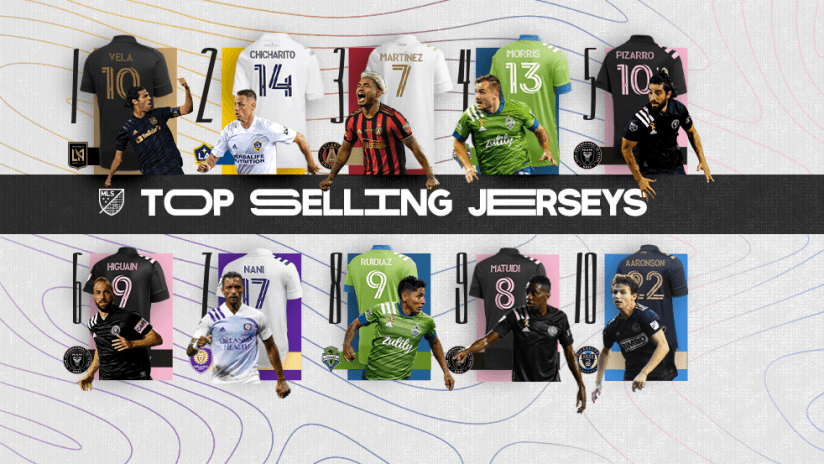 Top Selling Jerseys - 2020 - primary image