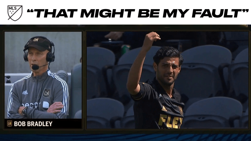 """My fault"": LAFC mistakenly sub off Carlos Vela in LAFC season-opener"