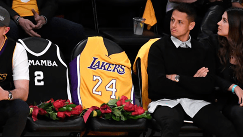 Javier Chicharito Hernandez at Lakers game