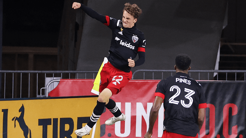 Griffin Yow celebrates first goal - DC United - September 19, 2020