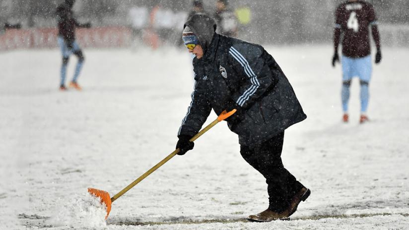 Colorado Rapids - 2019 - grounds crew shoveling snow