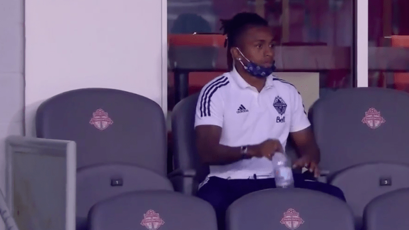 Yordy Reyna in stands - Vancouver Whitecaps