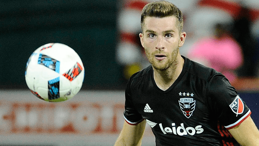 Patrick Mullins - DC United - closeup with ball