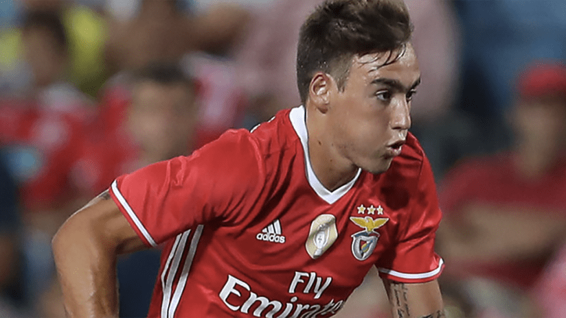 Andre Horta - playing for Benfica - close up