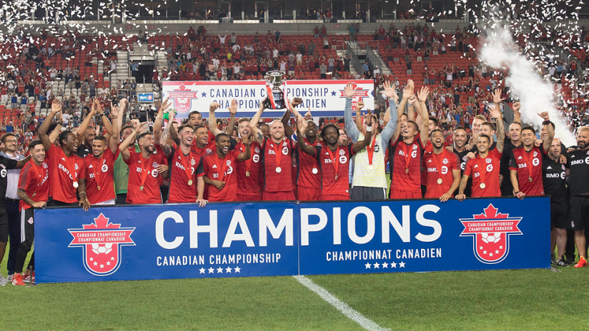 Canadian Championship - Toronto FC - trophy celebration