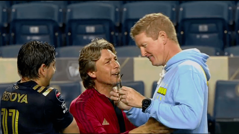Jim Curtin labels Gabriel Heinze a sore loser (and more) after CCL confrontation